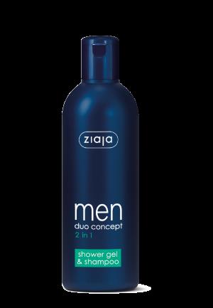 2 in 1 Duschgel und Shampoo für den Mann